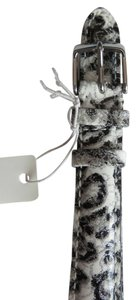 Michele Nwt Michele Black Cheetah Leopard Patent Leather 16MM Watch Band