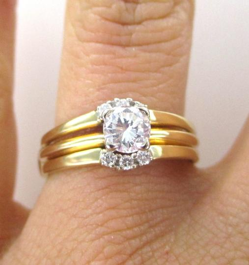 Other 14K Solid Yellow Gold 7 Diamond Ring WEDDING BAND