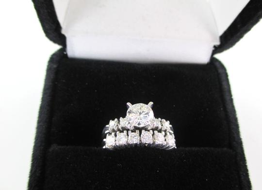 Other 14K Solid White Gold 11 Diamond Ring wedding band