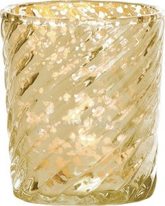 92 Beautiful Gold Mercury Glass Votives