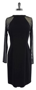 Tahari short dress Black Long Sleeve on Tradesy