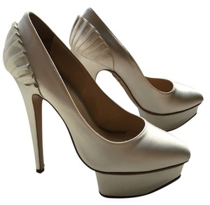 Charlotte Olympia Bridal Evening Luxury white Pumps