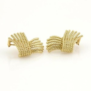 Tiffany & Co. Tiffany Co. Schlumberger Fringed Rope Ribbon Style 18k Yellow Gold Earrings
