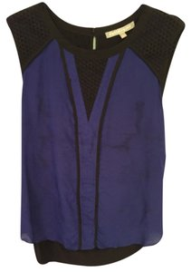 Daniel Rainn Top Blue + Black