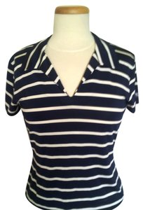 Ralph Lauren T Shirt White & Navy Blue