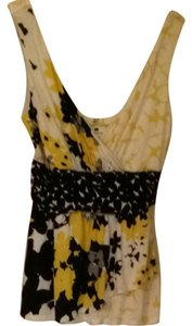 New York & Company Top Yellow,blue,white and Blue