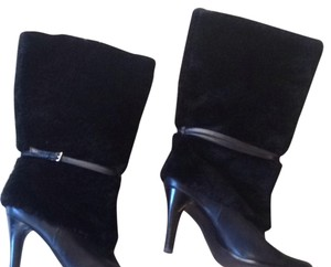 Ralph Lauren Faux Fur Size 9 Leather Black Boots