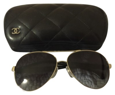d09bd1d760b7 Leather Chanel Aviator Glasses