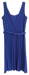 Maggy London short dress Blue Pleated on Tradesy
