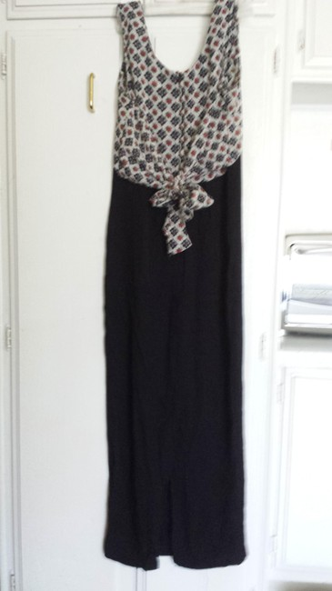 Black, white and red Maxi Dress by Alyn Page Long