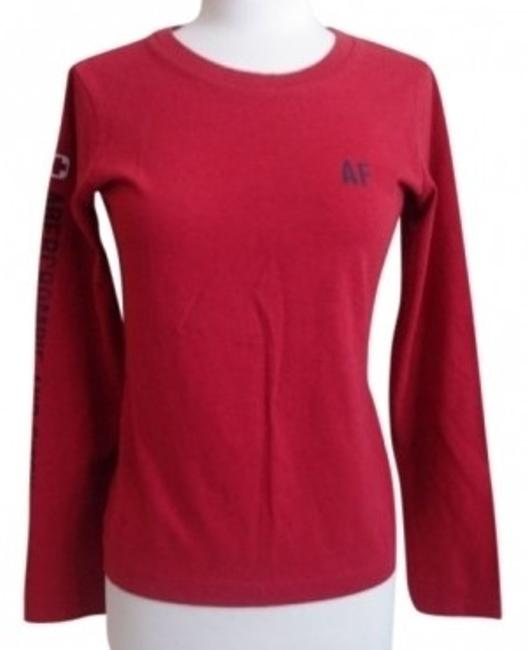 Abercrombie & Fitch Long Sleeve Ski T Shirt Red