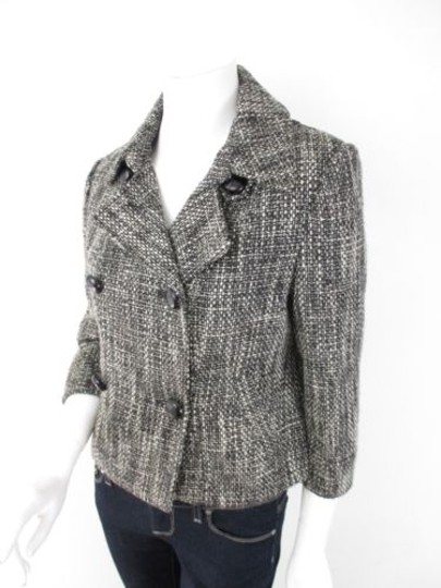 0e843d96f59 85%OFF Millard Fillmore Anthropologie Black Ivory Tweed Double Breasted  Jacket Coat #9671227 -