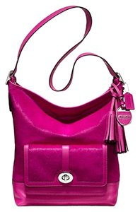 Coach Haircalf Duffle Satchel in Fuschia