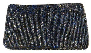 vintage japan Handmade Japan Seeded Beaded Beaded Beaded blue Clutch