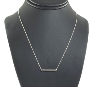Ippolita Ippolita Sterling Silver Diamond Necklace Linear Line Bar .925 16