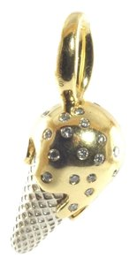 Ippolita Ippolita 18K Yellow Gold Sterling Silver Diamond Ice Cream Cone Charm Pendant