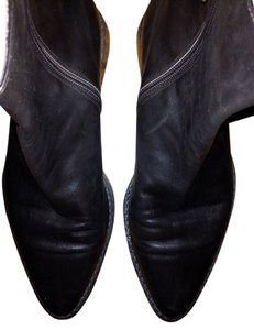 Ann Demeulemeester Pointed Toe Zip Side Dark Brown Boots