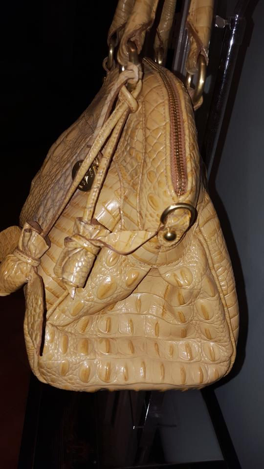 291eb9ebf Brahmin Louise Rose Collection Butter Croc Embossed Leather Satchel -  Tradesy