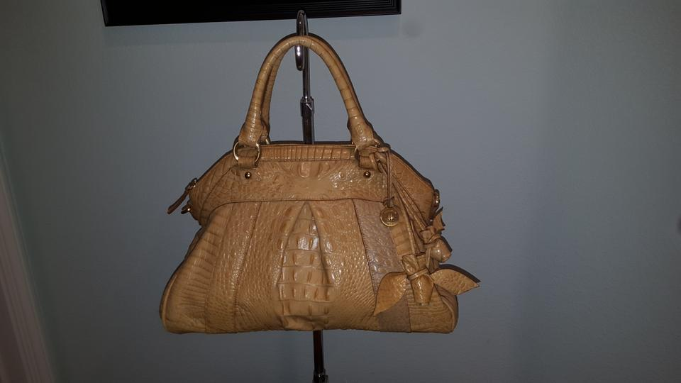 288163a9a Brahmin Louise Rose Collection Butter Croc Embossed Leather Satchel ...
