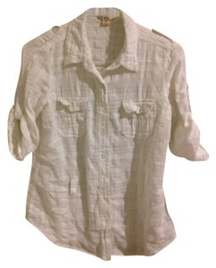 Forever 21 Button Down Shirt White