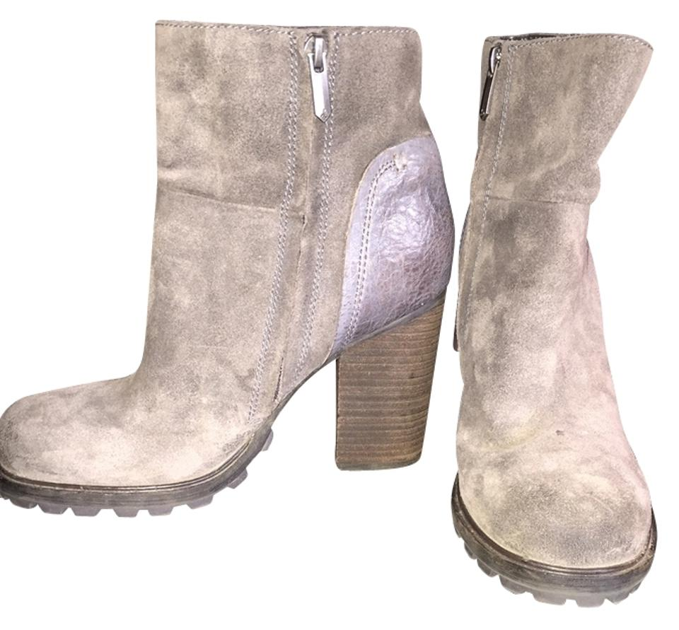 Sam New Edelman Grey New Sam 'franklin' Suede Leather Boots/Booties 712993