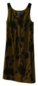 Simply Vera Vera Wang short dress Black and Olive Green on Tradesy
