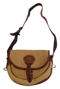 Dooney & Bourke Vintage Suede Leather Straps Shoulder Bag