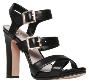 Vince Camuto With Heels Sturdy Black and Beige Sandals