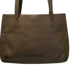Chanel Large Shopping School Embroidered Shoulder Bag