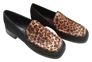 Kenneth Cole Loafers Leopard Print Brown Flats
