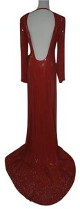 Diane von Furstenberg Marisa Dip Back Sequin Gown Dress