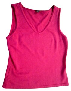 Ann Taylor Sleeveless Top DARK PINK