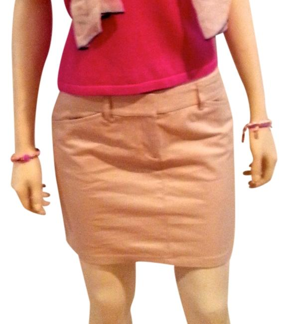 Express Size 2 Above Knee Stretch Editor Style Editor P599 Mini Skirt BEIGE