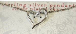 Sterling Silver Heart Pendant Engraved with Love Message