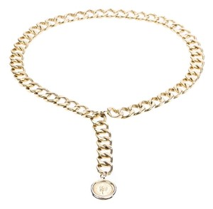 Chanel Chanel Vintage Gold Cuban Chain Belt