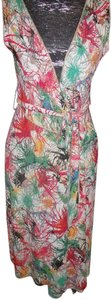 Zac Posen short dress Multi-Colored Wrap Mid Lenght Color Belted on Tradesy