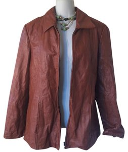 Dialogue Leather Leather brown Leather Jacket