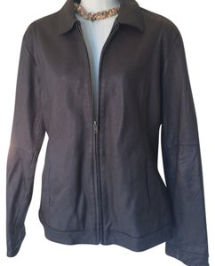 Wilsons Leather Bomber Plus Size Dark Coco Brown Leather Jacket