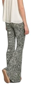Abercrombie & Fitch Boho Flares Printed Super Flare Pants green