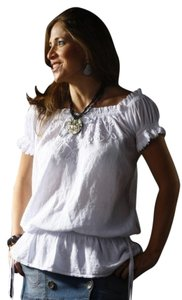 Lirome Country Casual Summer Top White