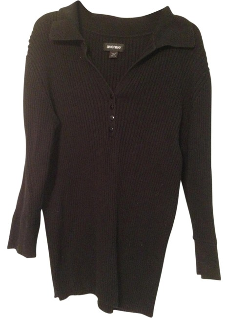 Avenue Collar Button-up Ribbed Sweater