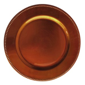 Copper 120 Chargers Tableware