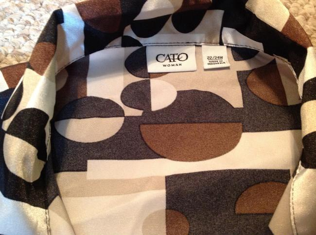 Cato Top Brown Pattern