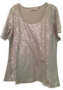 Avenue Sequin T Shirt Gray