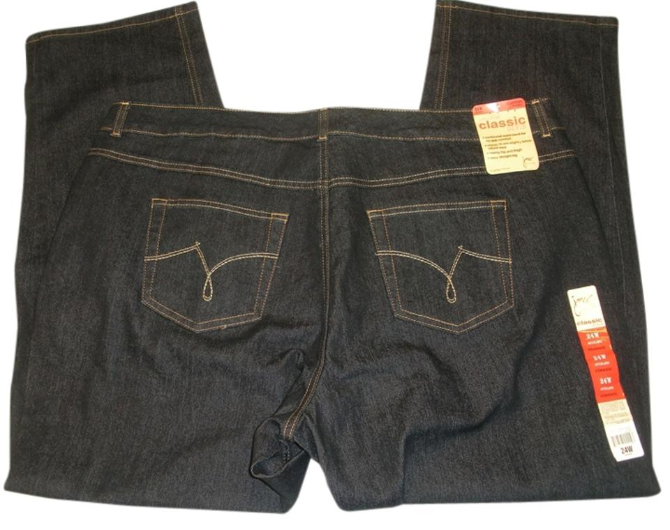 85d982f5773 Just My Size Dark Rinse 24w Classic Fit Stretch Denim Straight Leg Jeans