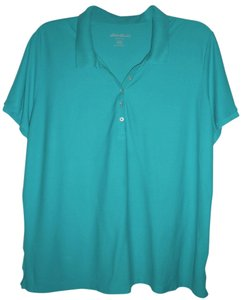 Eddie Bauer Top Aqua/ Teal XXXL Polo