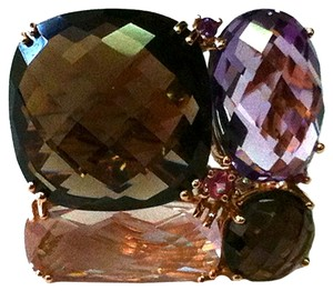 Other Multi Stone Pink Gold Ring