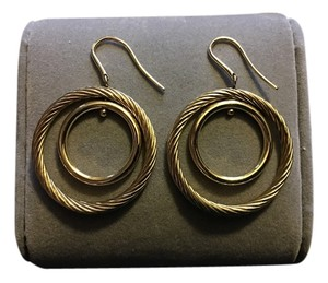 David Yurman David Yurman Gold hoop earrings!