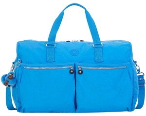 Kipling Duffle Black Travel Casual Blue Blue Jay Travel Bag