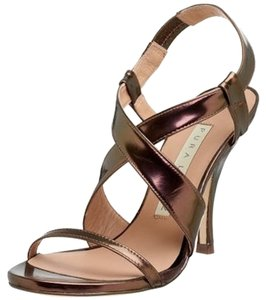 Pura Lopez Metallic Leather Mekong Sandals